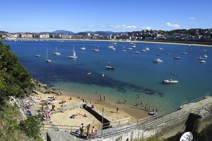 A visit to the island of Santa Clara, San Sebastián
