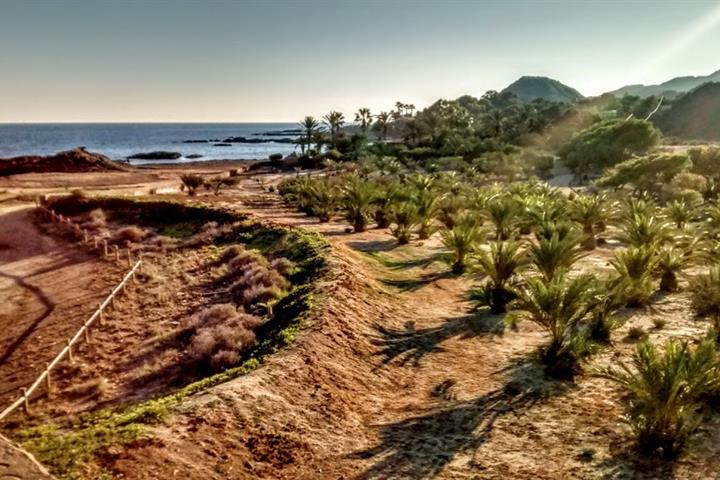 The natural beaches of Villarícos along the Almería coast