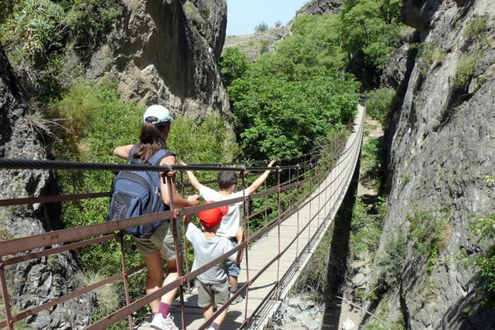 Walking the hanging bridges of Los Cahorros Monachil, Granada