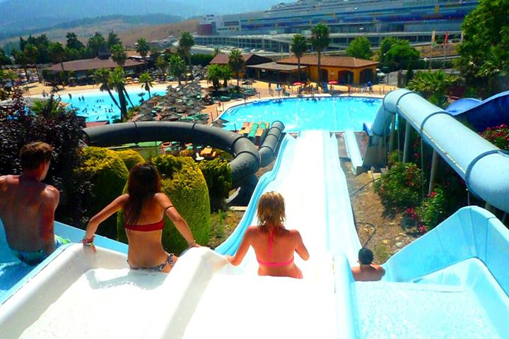 The water parks in Malaga, Costa del Sol