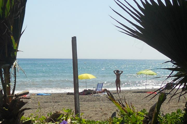 Nudist beaches in Malaga - Almayate beach
