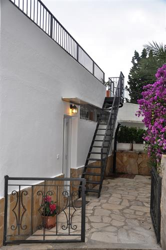Details of the backdoor and stairs to the sunterrace