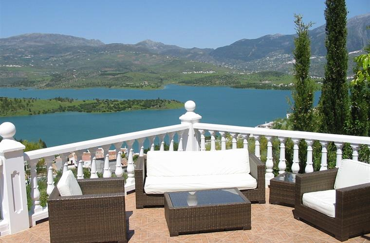 Stunning views from the spacious terrace.
