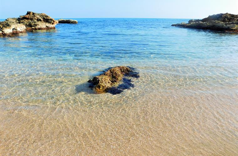 Less than a 5 minute walk from your villa to this lovely cove