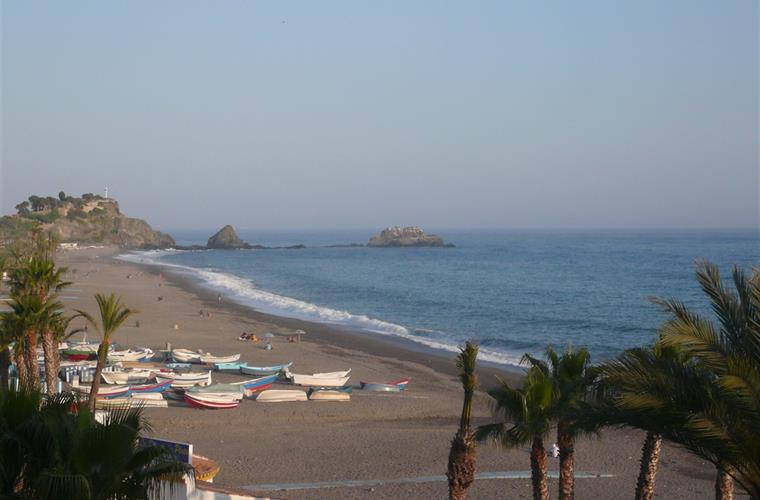 Tropical beach of Almuñecar