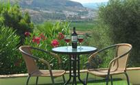 Enjoy the view of Pizarra by the swimming pool