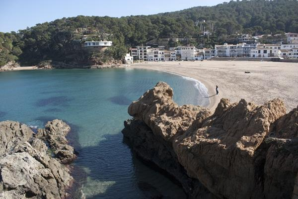 Sa Riera beach in winter