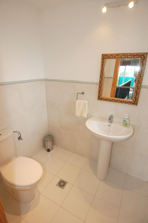 Villa Elli also has guest cloakroom just off living room.