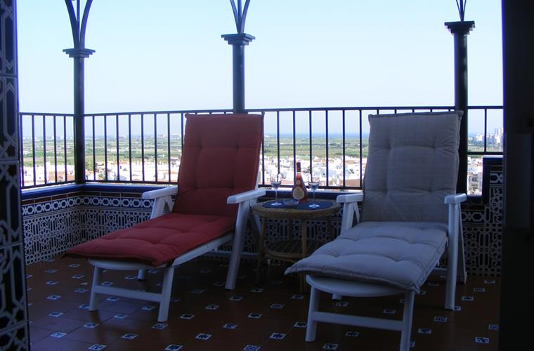 recliners on the terrace