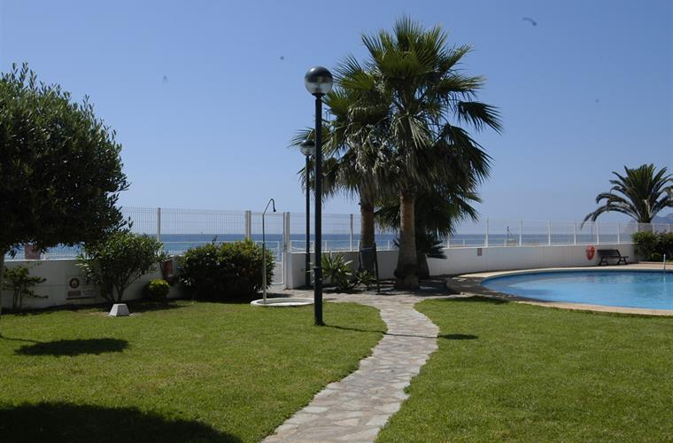 Garden, swimming pool and beach