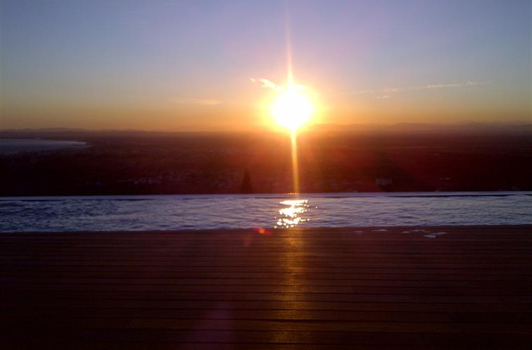 Sunset from infinity pool!