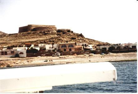 El Montecillo from the sea.