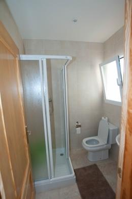 2nd bathroom with shower and toilet