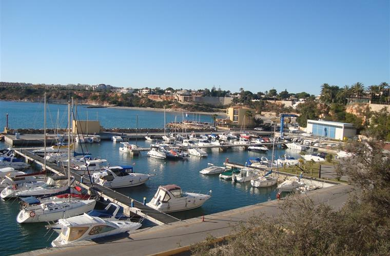Cabo Roig Marina from cliff walk