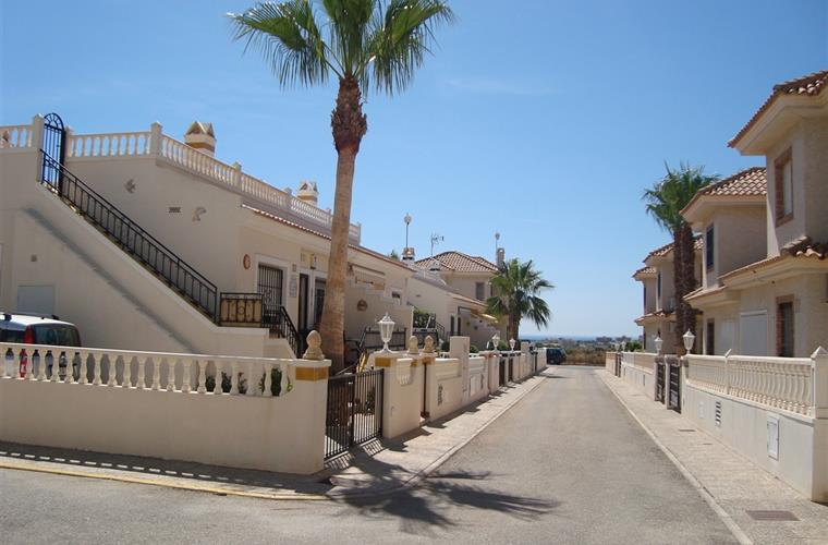 The street with sea views