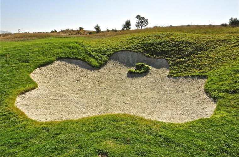 One of many well placed bunkers.