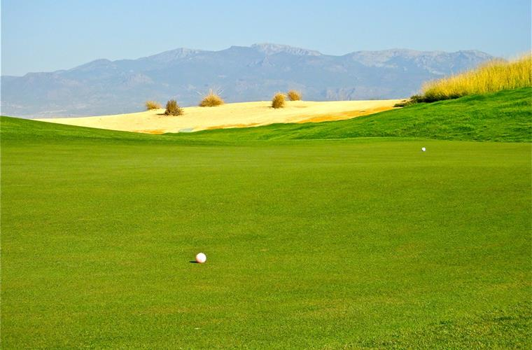 The Sierra Espuna Mountains as seen from the golf course.