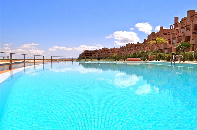 The infinity pool at La Isla del Condado de Alhama