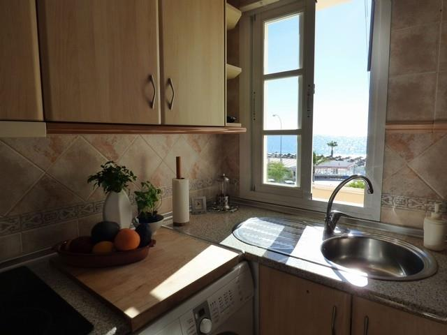 kitchen view to Burriana Beach in front