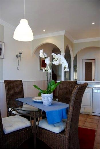 Dining area with sea view & air con