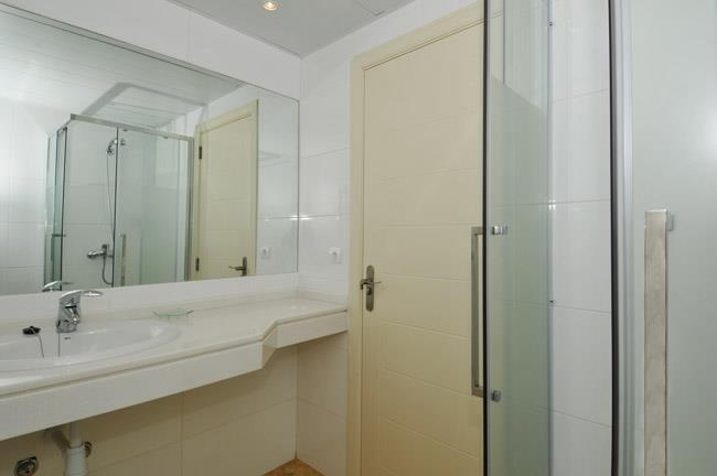 Second bathroom with shower and toilet