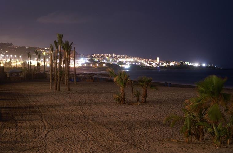 Mojacar beach at night