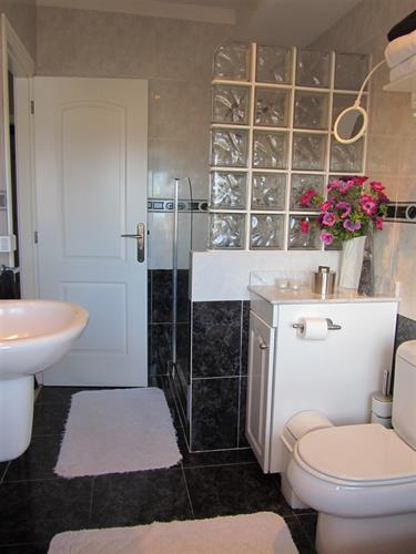 Bathroom en-suite with shower + bathtub