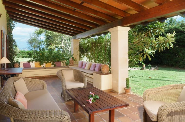 covered terrace with outdoor sofa