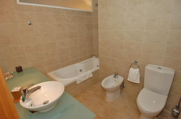 Spacious ensuite has feature spa bath.