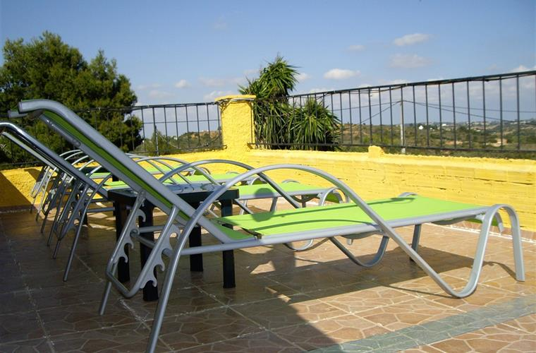 sunterrace at swimmingpool