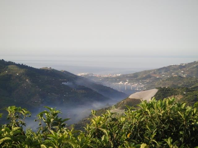 Valley and sea view