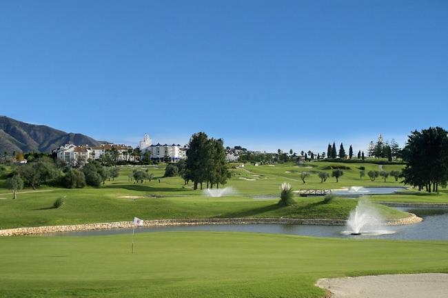 The villa is overlooking the famous Mijas Golf Resort