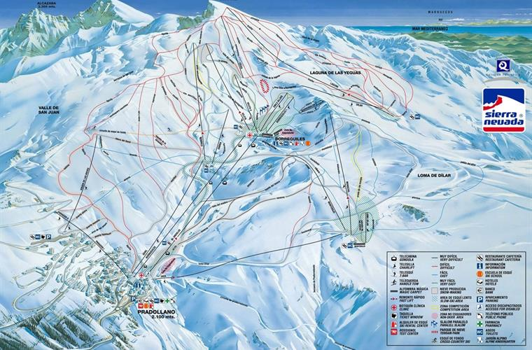 A surprisingly large Ski area