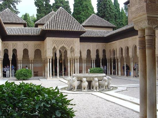 Lions court, Alhambra palace, Granada