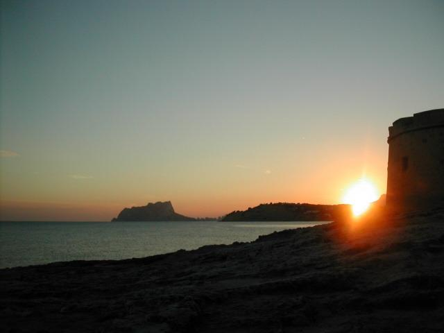 Sunsetting on Moraira beach