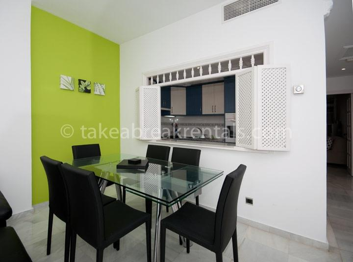 Dining area family apartments Costa del Sol Spain