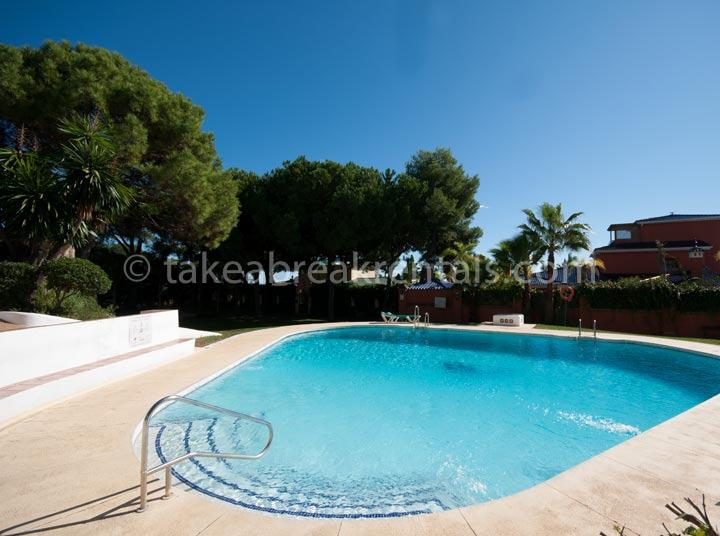 Poolside apartment rental Costa del Sol Spain