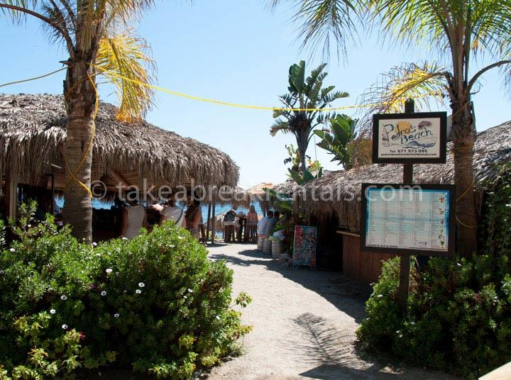 Pedros beach restaurant close to Andalucia del Mar
