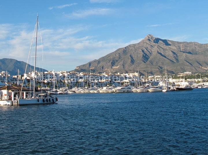Puerto Banus harbour close to Andalucia del Mar