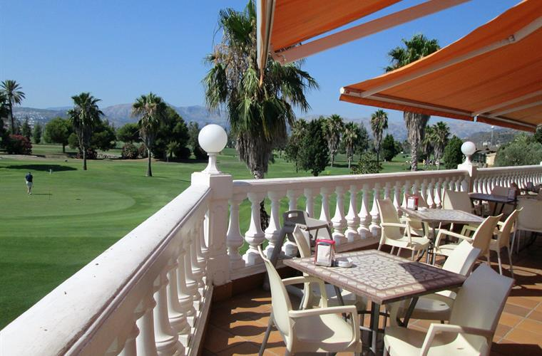 Club house open to all overlooking golf course
