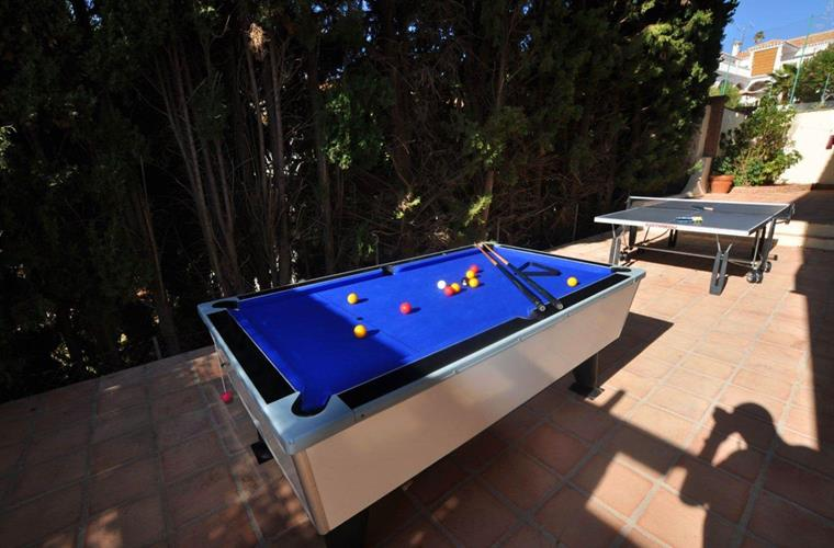 Outside pool table and table tennis table