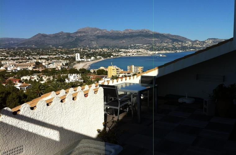 Vieuw from terras, you see Albir, Altea and Calpe