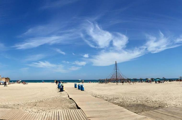 Panoramic View of La Zenia Beach.