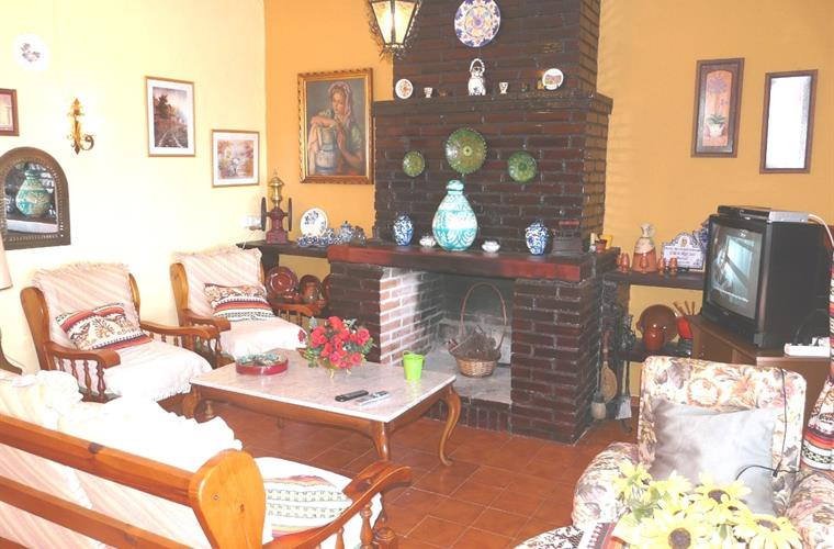 In winter it is also warm by the fireplace