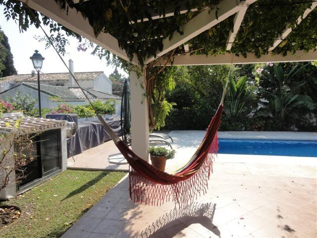 terrace with hammock