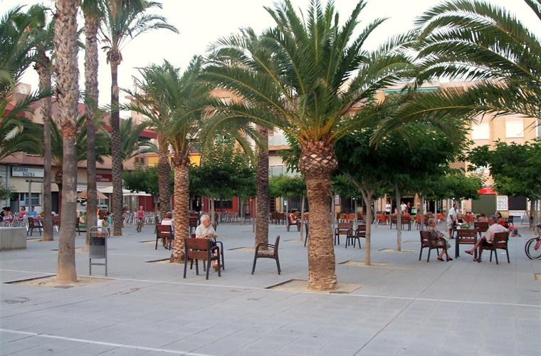 The square in nearby Torre de la Horadada