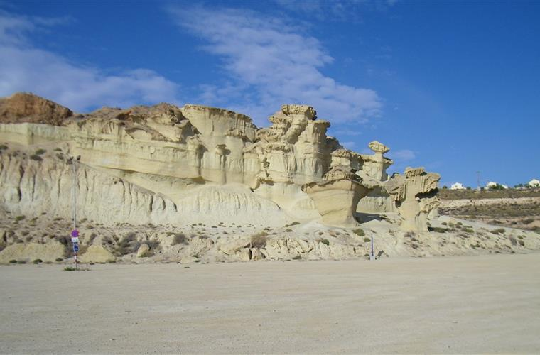 The natural 'erosions' in Bolnuevo - taken in October