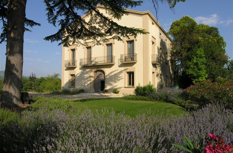 The villa and garden