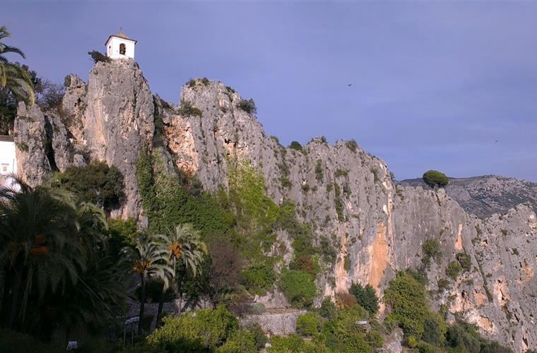Mountain-top village Guadalest, steeped in history of the Moors.