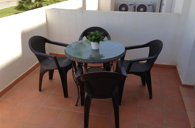 Rear Terrace, gets the sun in the morning, ideal for breakfast.